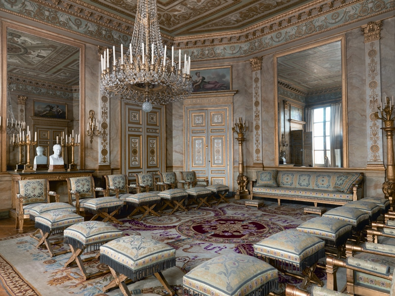 Petit salon du Palais impérial de Compiègne, désinsectisation par Hygiène Office